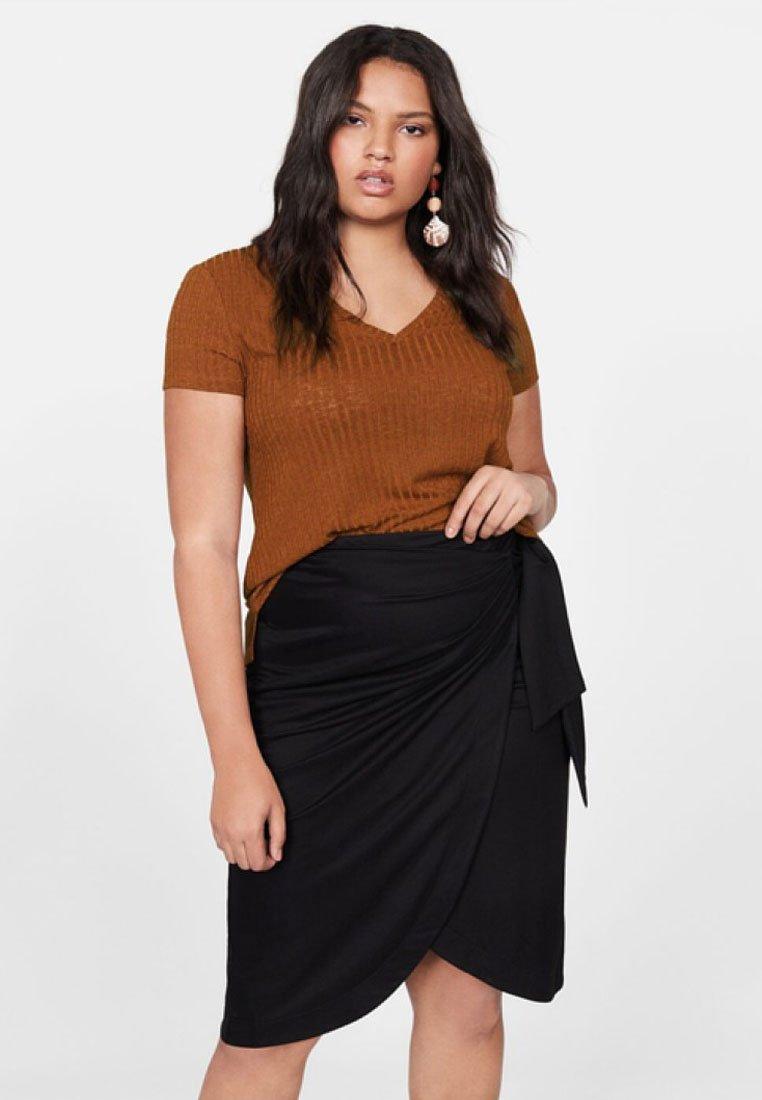 Violeta by Mango - KIM - T-shirt print - brown