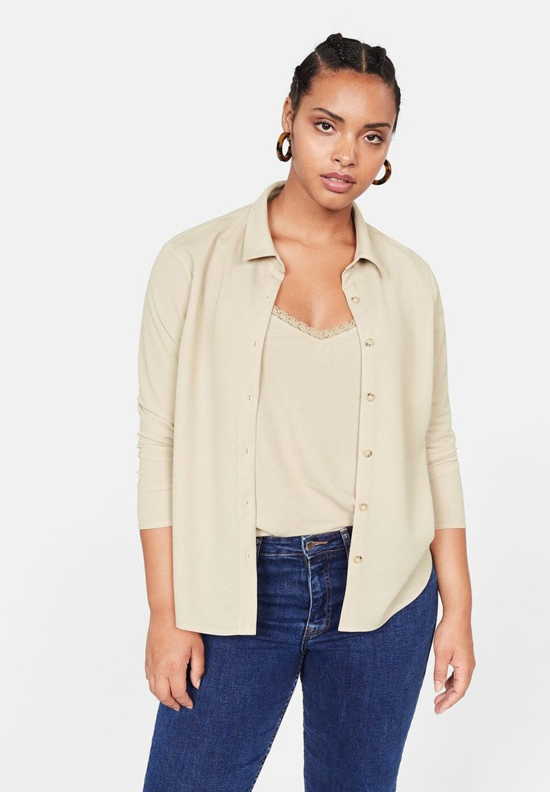 Violeta by Mango - MADISON - Button-down blouse - medium brown