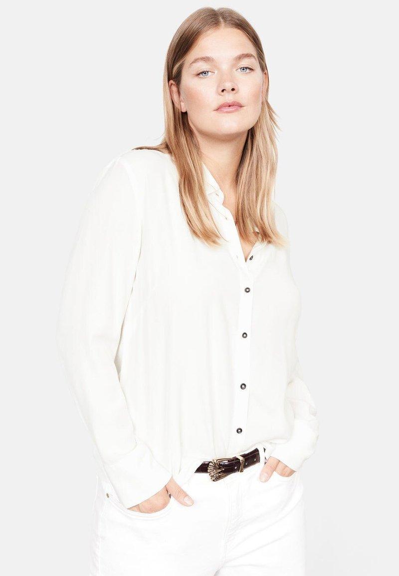 Violeta by Mango - LEOPARD - Overhemdblouse - cream white