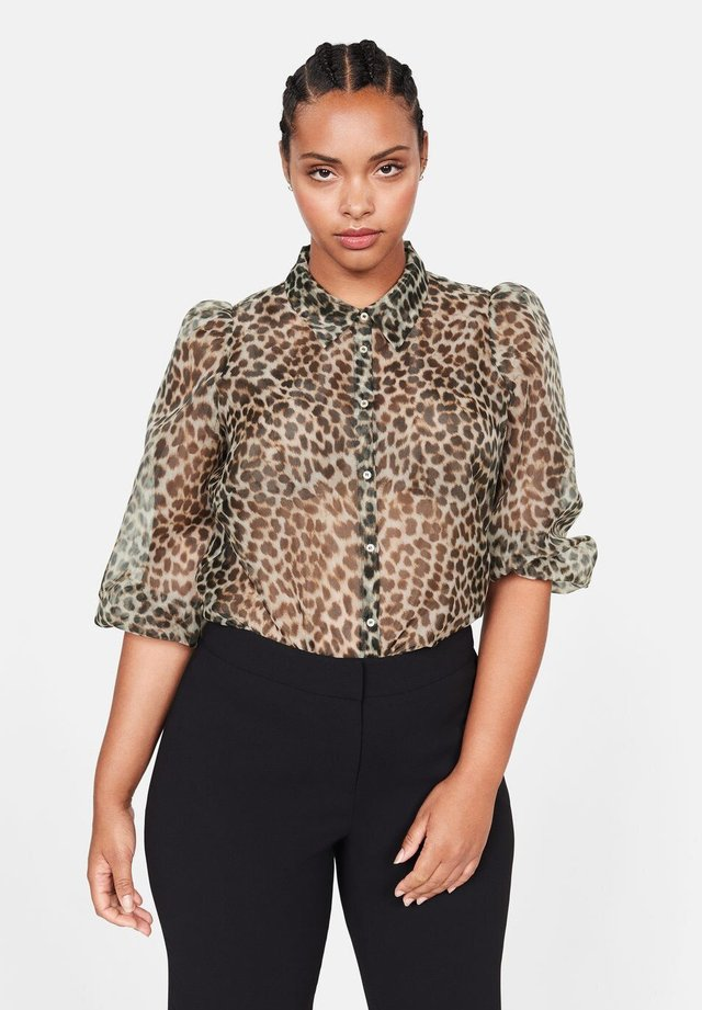 ORGANZA - Button-down blouse - beige