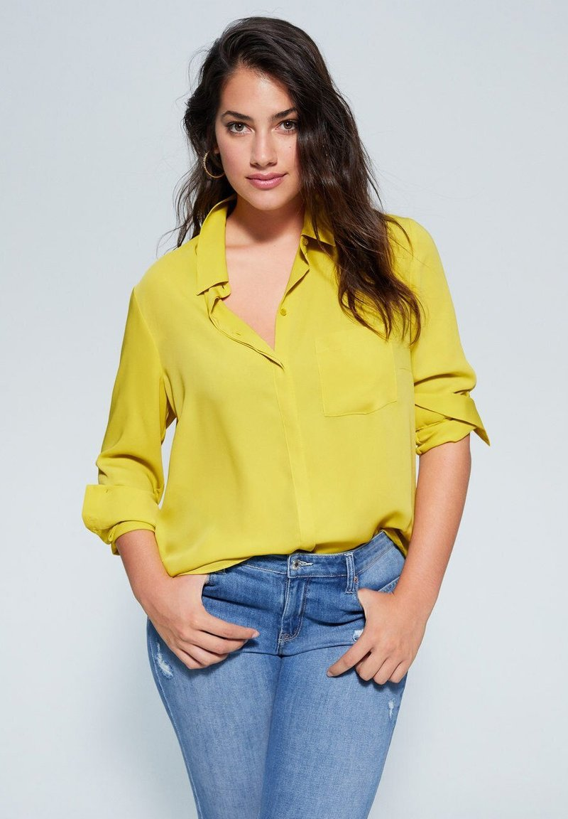 Violeta by Mango - SEDI - Button-down blouse - lime