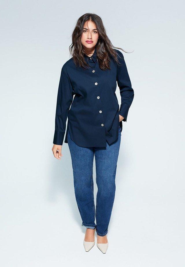 BLUS - Button-down blouse - dunkles marineblau