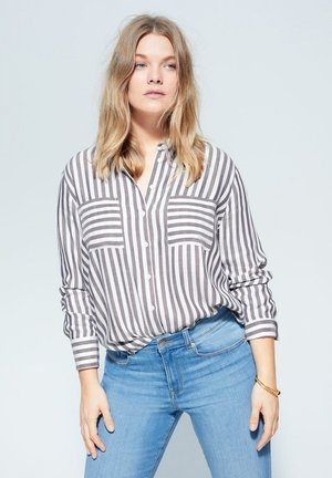 MUSIC - Button-down blouse - grau