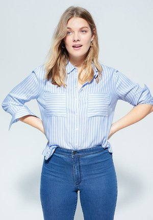 MUSIC - Button-down blouse - blau