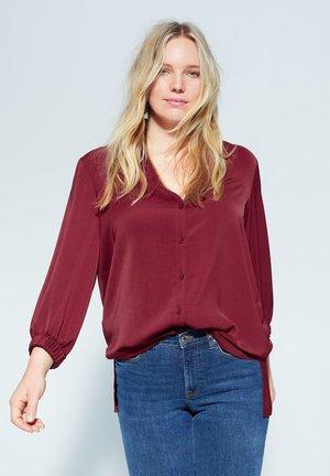 NEGRI - Button-down blouse - granatrot