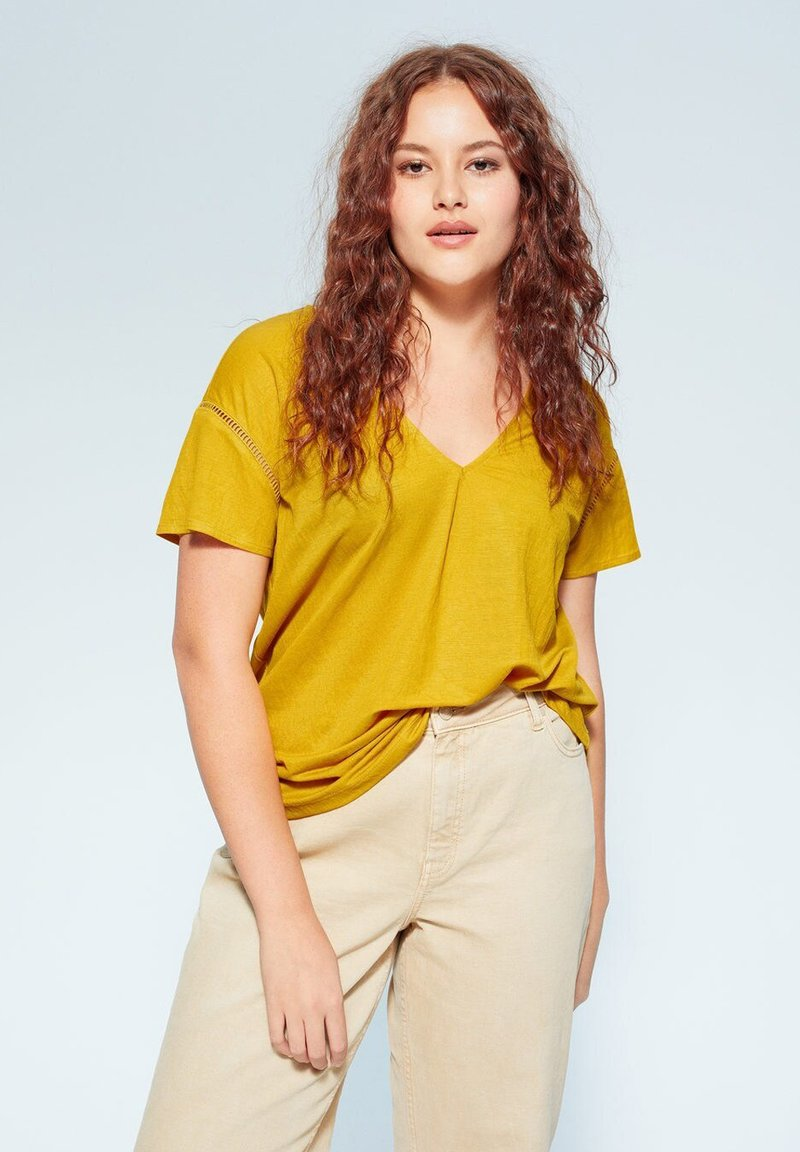Violeta by Mango - BEGO - T-shirts print - mosterd
