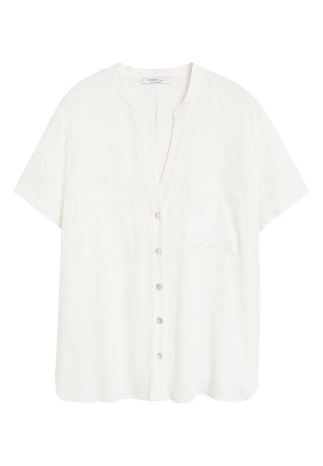RUTH - Blus - blanc cassé