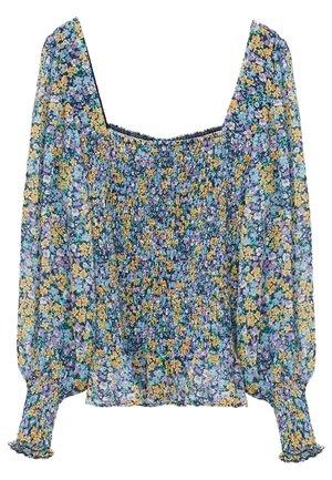 DULCE - Long sleeved top - blau