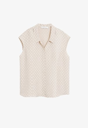 COTILIP - Button-down blouse - beige