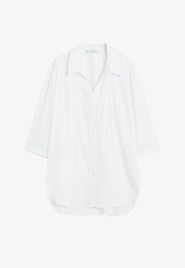 HEMD AUS BAUMWOLL-MIX - Overhemdblouse - weiß