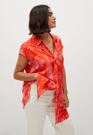 HAWAI - Button-down blouse - korallrot