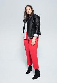 Violeta by Mango - BARROW - Faux leather jacket - black - 1