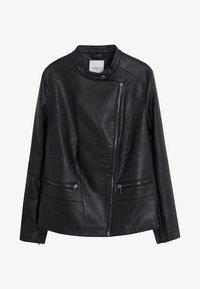 Violeta by Mango - BARROW - Faux leather jacket - black - 5