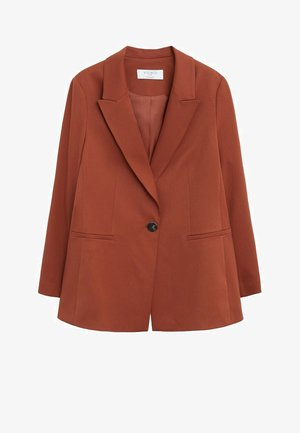 OZDU - Short coat - bräunliches orange