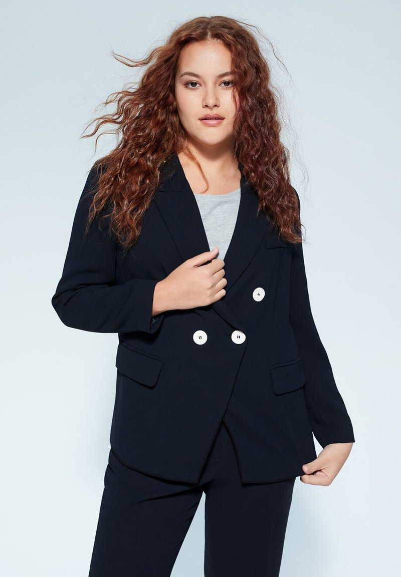 Violeta by Mango - VERONIKA - Blazer - dark navy blue