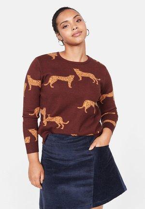 LEOPARD - Pullover - garnet