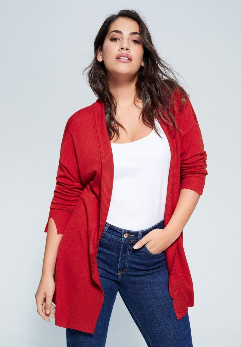 Violeta by Mango - LISA - Chaqueta de punto - cherry red