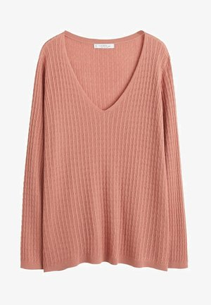 CABLE - Pullover - rosa