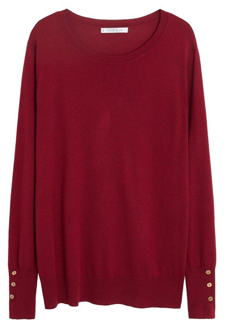 Purple Bluse med elastisk på ærmerne  Violeta by MANGO  Skjorter