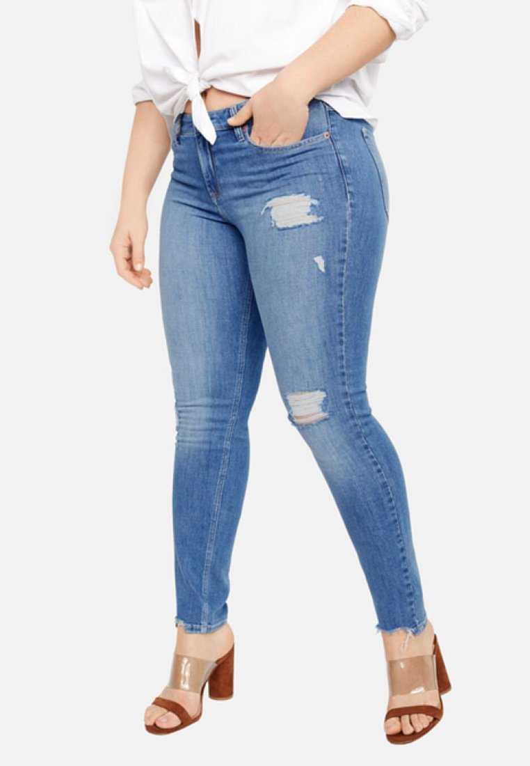 Violeta by Mango - ANDREA - Jeans Skinny Fit - blue