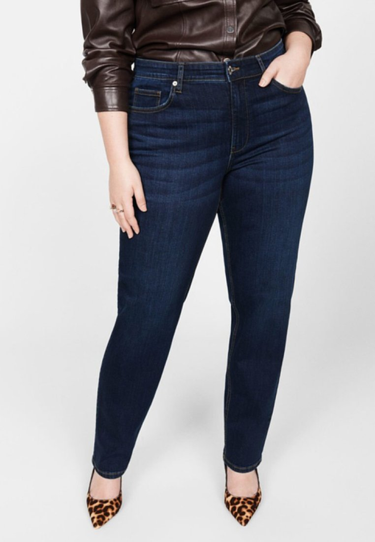 Violeta by Mango - ELY - Relaxed fit jeans - dark blue