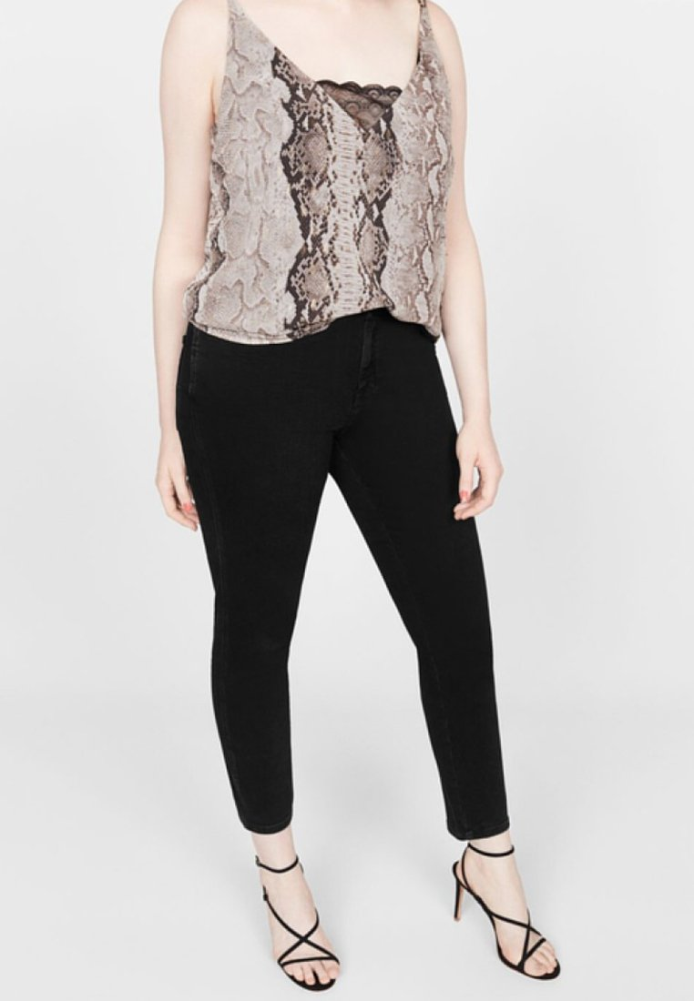 Violeta by Mango - IRENE  - Jeans Skinny Fit - black denim