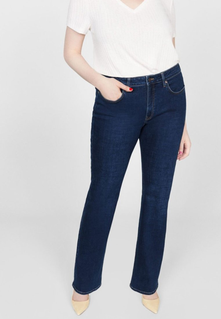Violeta by Mango - MARTHA - Jeans Bootcut - dark blue