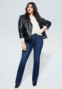 Violeta by Mango - MARTHA - Slim fit jeans - dark blue - 1