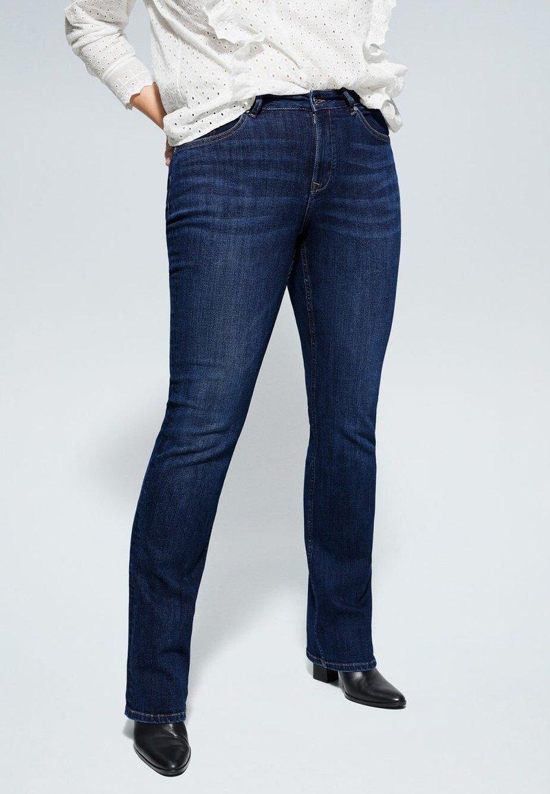 Violeta by Mango - MARTHA - Slim fit jeans - dark blue