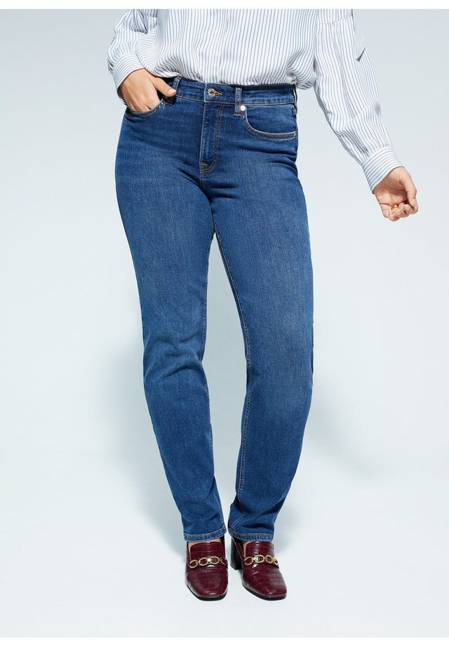 STRAIGHT JEANS THERESA - Straight leg jeans - blu scuro