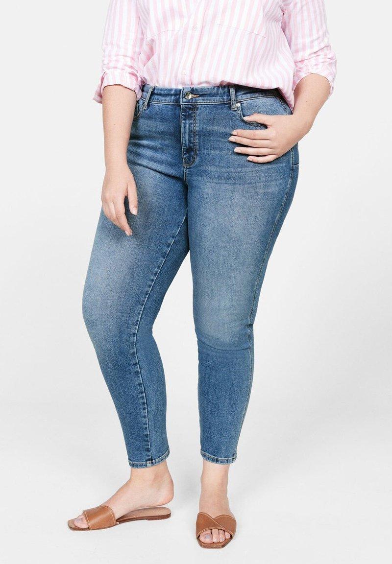 Violeta by Mango - IRENE - Jeans Skinny - mittelblau