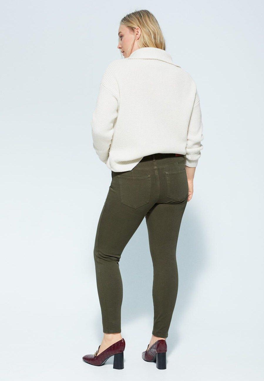 Violeta by Mango IRENE - Jeansy Skinny Fit - khaki
