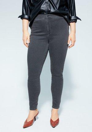 TANIA HIGH-WAIST JEANS - Jeans Skinny Fit - grijs denim