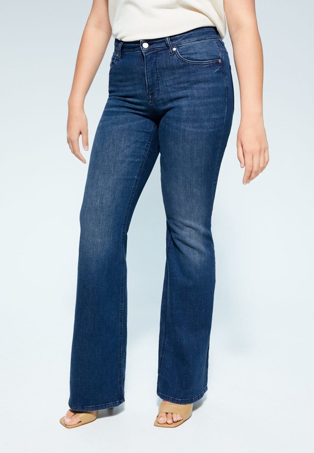 CANDICE - Flared jeans - dunkelblau