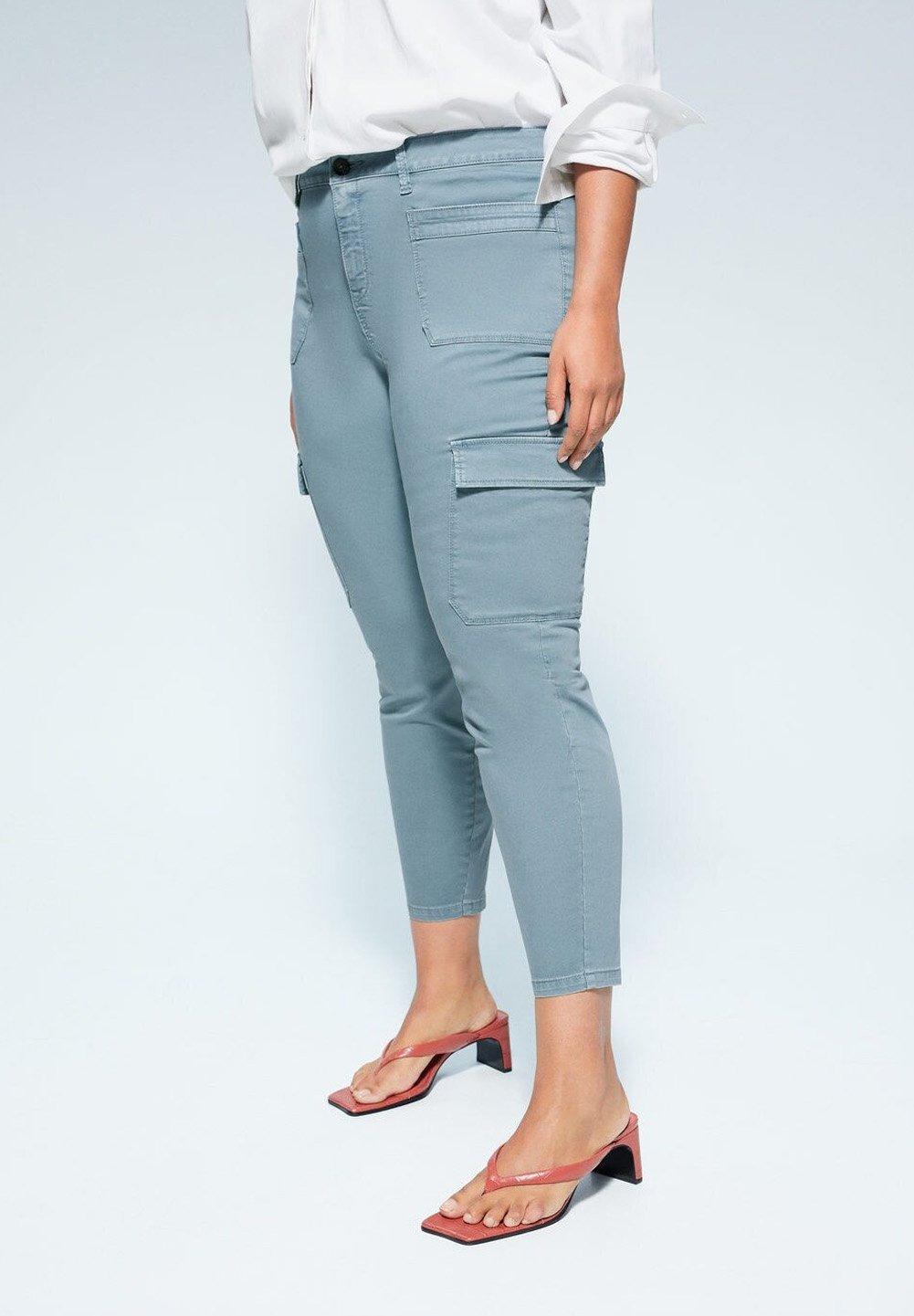 Violeta By Mango Patxi - Jeans Skinny Fit Aquamarine UK