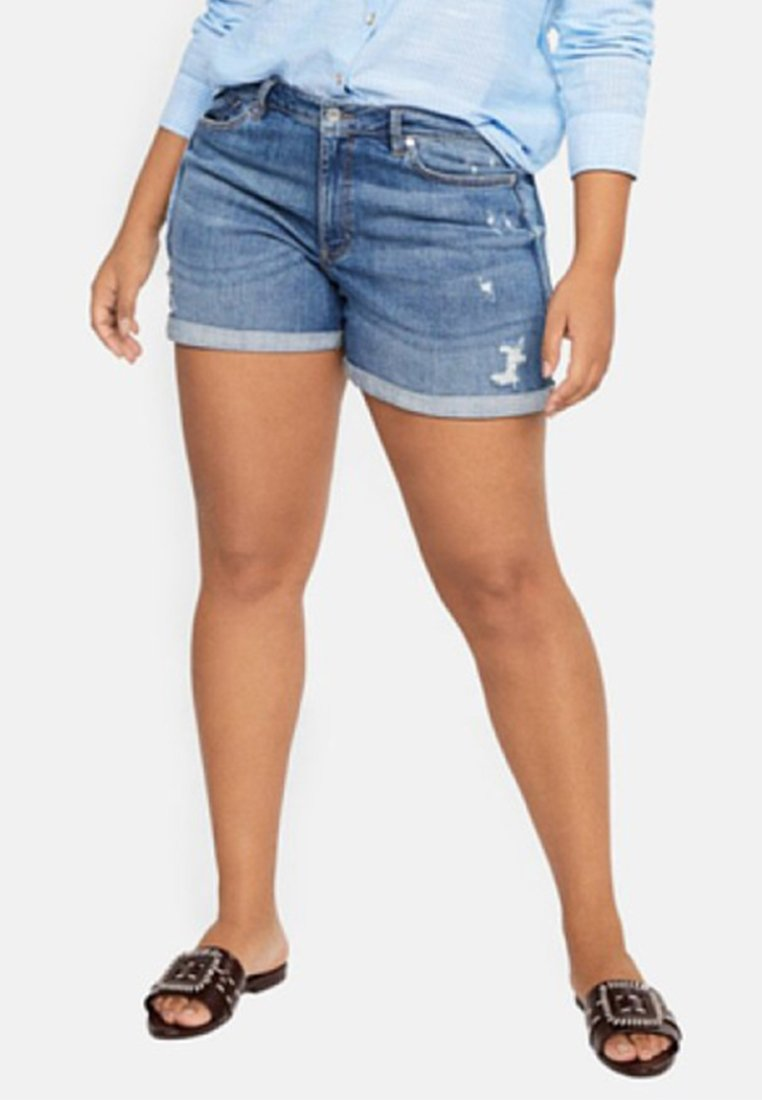 Violeta by Mango - VICKY - Jeans Shorts - blue