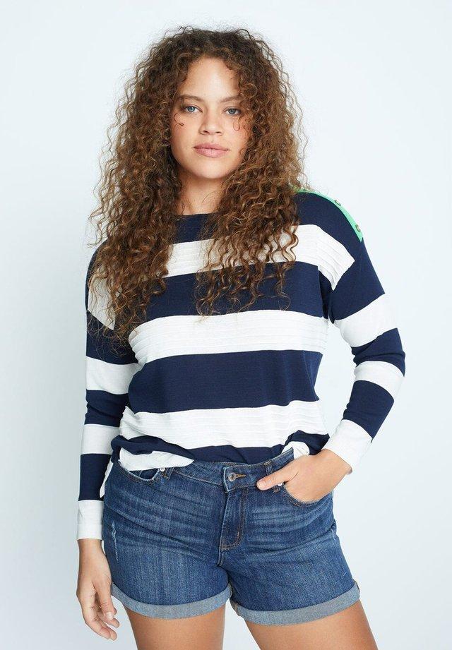 VICKY - Shorts di jeans - dunkelblau