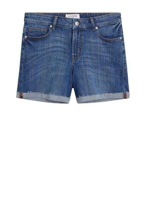 VICKY - Denim shorts - mittelblau