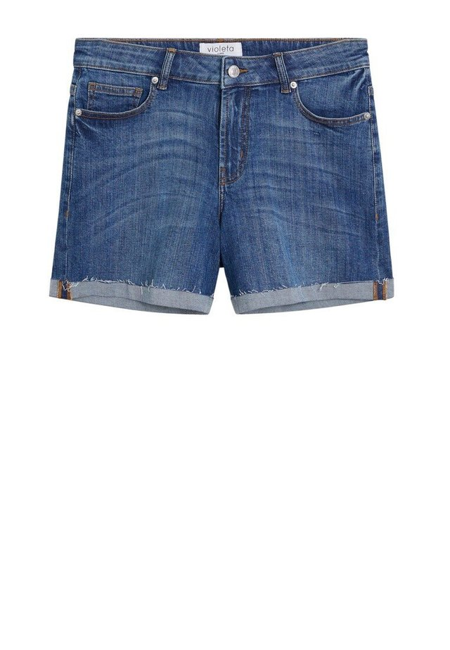 VICKY - Denim shorts - mittelblau