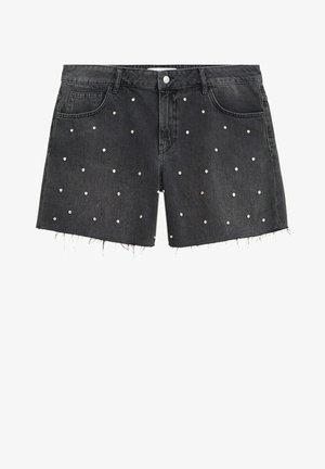 Shorts - black denim