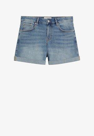 VICKY - Shorts vaqueros - hellblau