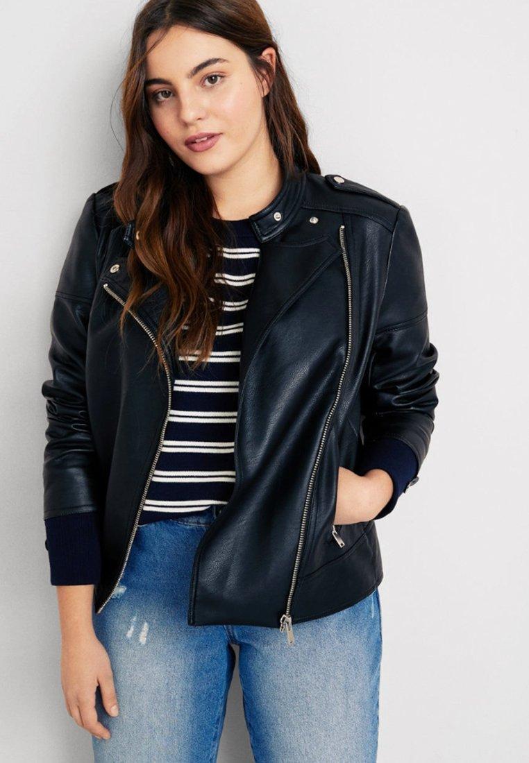 Violeta by Mango - BARROW - Faux leather jacket - black