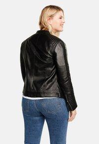 Violeta by Mango - ISABEL - Leather jacket - black - 2