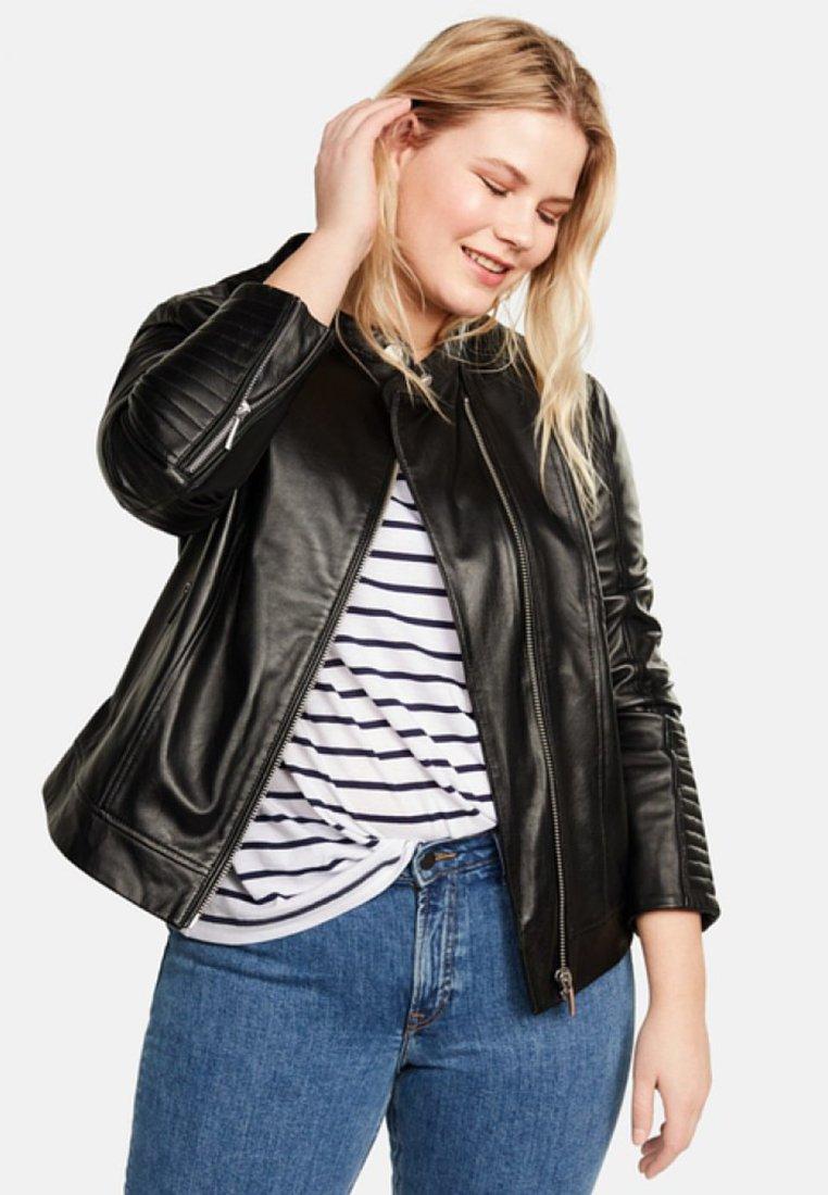 Violeta by Mango - ISABEL - Leather jacket - black