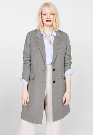 BASIC - Classic coat - mottled grey