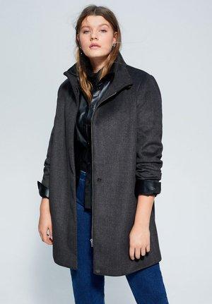 ELLE - Classic coat - dunkelgrau meliert