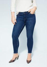 Violeta by Mango - ANDREA - Slim fit jeans - dunkelblau - 0