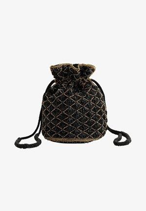 BEADED - Bolso de mano - black