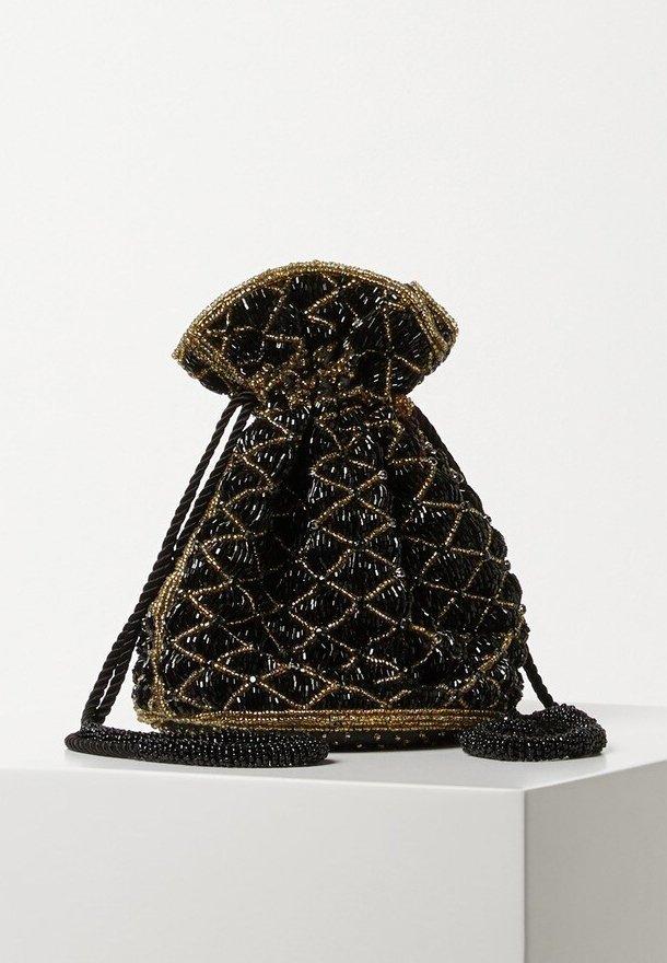 BEADED - Handtasche - black