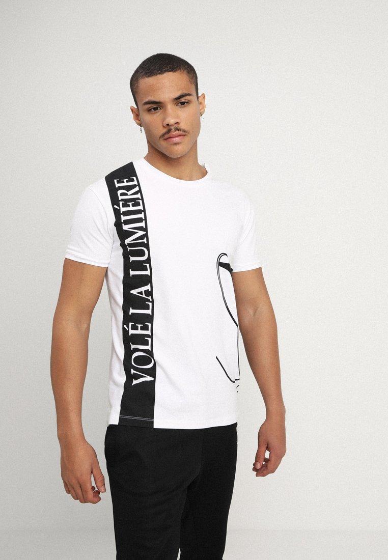 Volé la lumière  - LOGO STRIPE - Print T-shirt - white